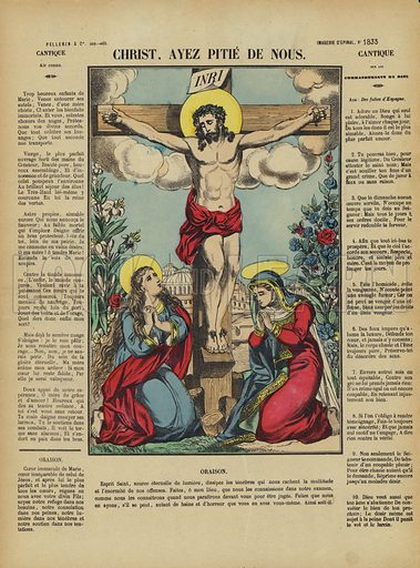 Christ on the Cross. Illustration from Le Pelerin, early 20th Century.