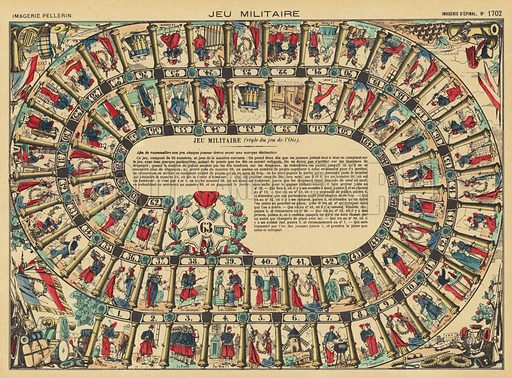 Military board game. Illustration from Le Pelerin, early 20th Century.