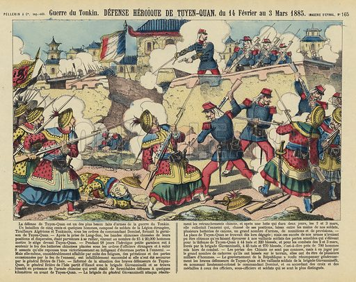 Siege of Tuyen Quang, Vietnam, Sino-French War, 1885. Illustration from Le Pelerin, early 20th Century.