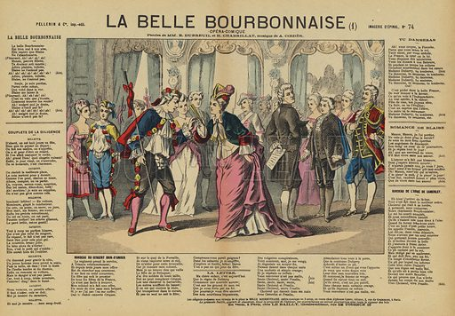 La Belle Bourbonnaise, comic opera by Auguste Coedes. Illustration from Le Pelerin, early 20th Century.