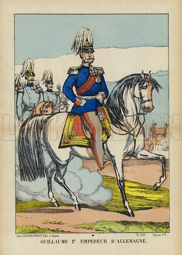 Kaiser Wilhelm I of Germany (1797–1888). Illustration from Le Pelerin, early 20th Century.