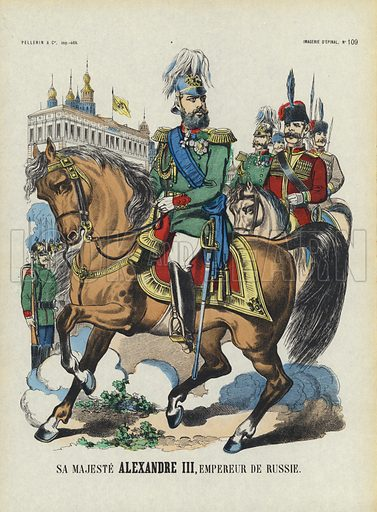 Tsar Alexander III of Russia (1845-1894). Illustration from Le Pelerin, early 20th Century.