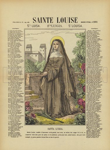 St Louise. Illustration from Le Pelerin, early 20th Century.