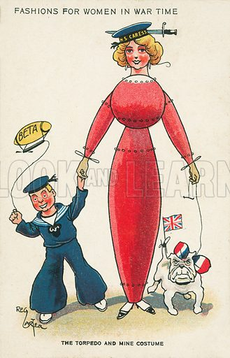 Fashions for women in wartime: the torpedo and mine costume