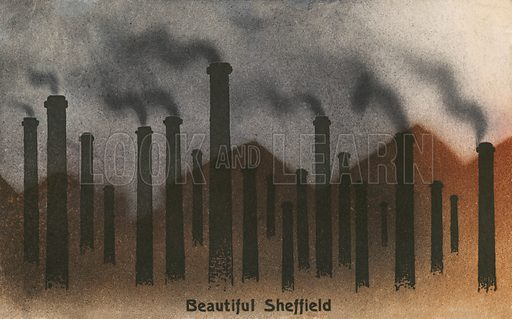Beautiful Sheffield, Yorkshire. Postcard, early 20th century.