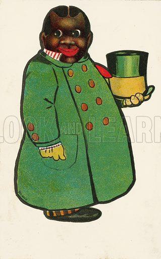 Black doorman in his uniform. Postcard, early 20th century.