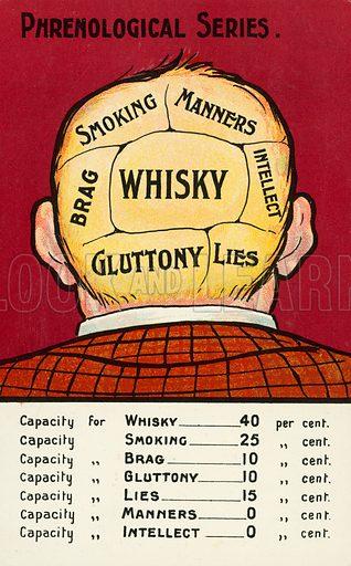 Phrenology: capacity of various parts of a man's brain