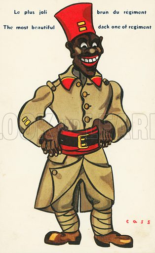Black soldier. Postcard, early 20th century.