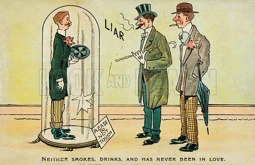Liar. Postcard, early 20th century.