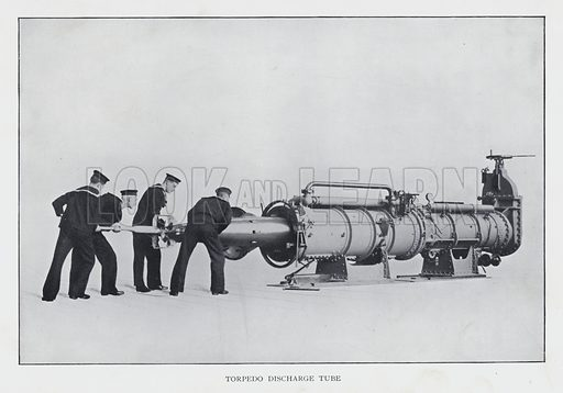 Torpedo discharge tube. Illustration from Science in Modern Life (The Gresham Publishing Company, London, 1920).