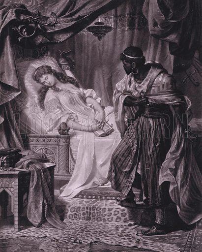 Scene from Shakespeare's Othello (Act V, Scene 2). Illustration from Shakespeare-Gallerie (G Grote'sche Verlagsbuchhandlung, Berlin, 1886).