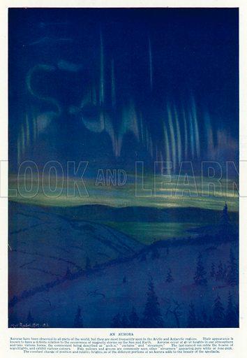 Aurora. Illustration from Hutchinson's Splendour of the Heavens (Hutchinson & Co, London, 1923).