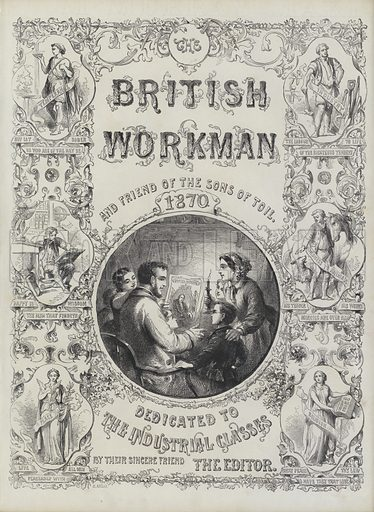 Title page of The British Workman, 1870.