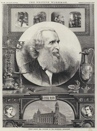 Josiah Mason (1795-1881), English industrialist, philanthropist and founder of the Erdington Orphanage, near Birmingham. Illustration for The British Workman, 1870.