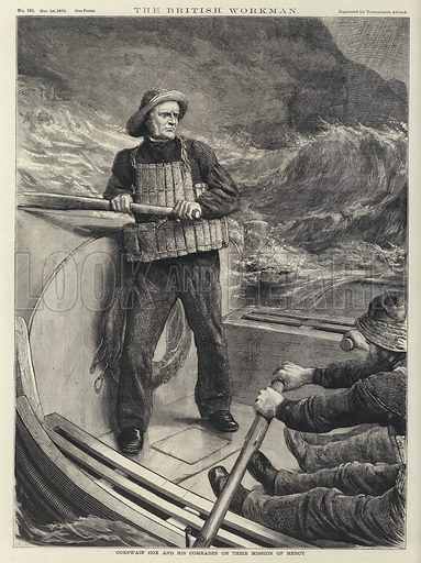 Coxwain Cox and His Comrades on Their Mission of Mercy. Illustration for The British Workman, 1870.