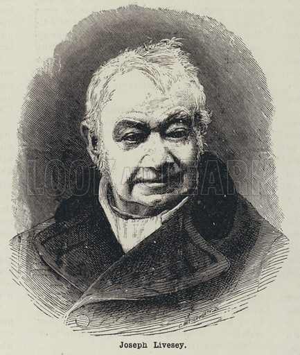 Joseph Livesey (1794-18844), English temperance campaigner, social reformer and philanthropist. Illustration from The Cottager and Artisan (The Religious Tract Society, London, 1909).