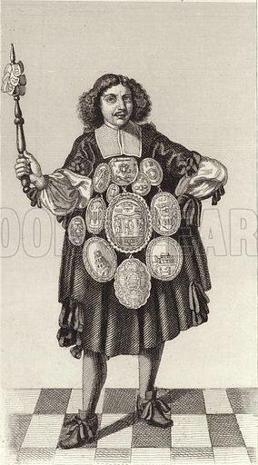 Nuremberg state poet, 1674. Illustration for Bilder-Atlas, Ikonographische Encyklopädie der Wissenschaften und Künste (Brockhaus, 1875).