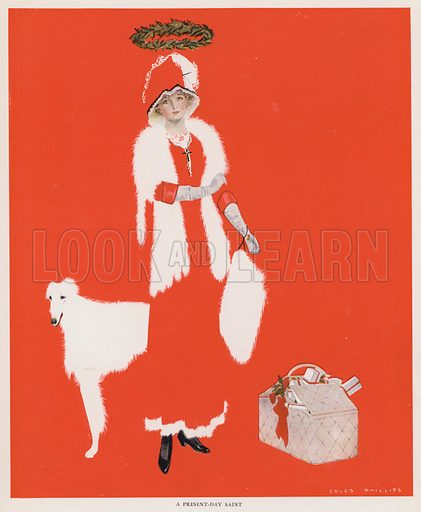 A Present-Day Saint. Illustration for A Gallery of Girls by Coles Phillips (New York, The Century Co, 1911).