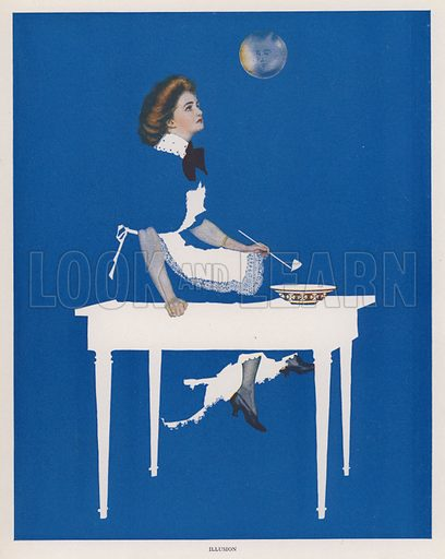 Illusion. Illustration for A Gallery of Girls by Coles Phillips (New York, The Century Co, 1911).
