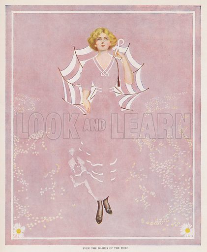 Even the Daisies of the Field. Illustration for A Gallery of Girls by Coles Phillips (New York, The Century Co, 1911).