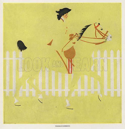 Thoroughbreds. Illustration for A Gallery of Girls by Coles Phillips (New York, The Century Co, 1911).