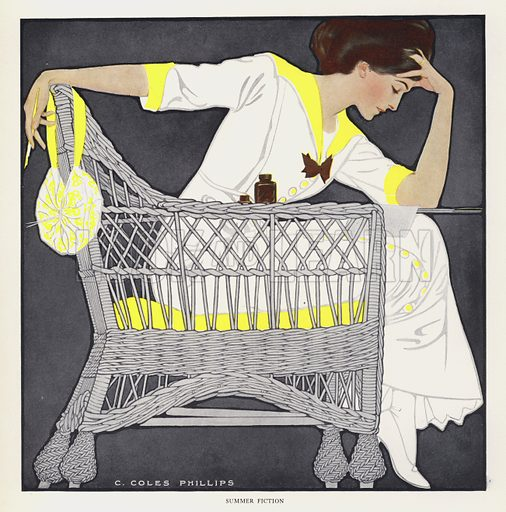 Summer Fiction. Illustration for A Gallery of Girls by Coles Phillips (New York, The Century Co, 1911).