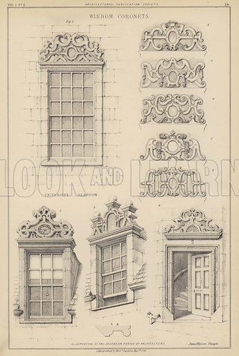 Jacobean window coronets.