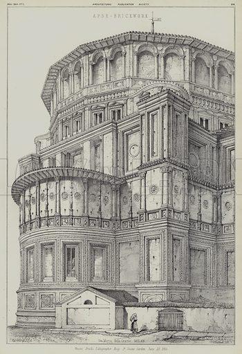 Apse of the Church of Santa Maria della Grazie, Milan, Italy.