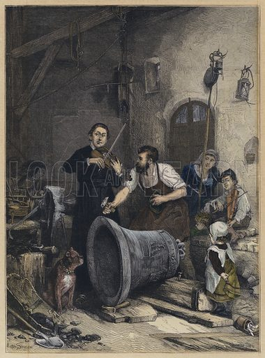 The Toning of the Bell. Illustration from The Graphic, 24 February 1877.