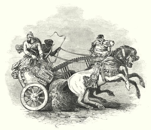 War chariot. Illustration for The Sunday Picture Book No 2, Scripture Manners and Customs (SPCK, c 1873).