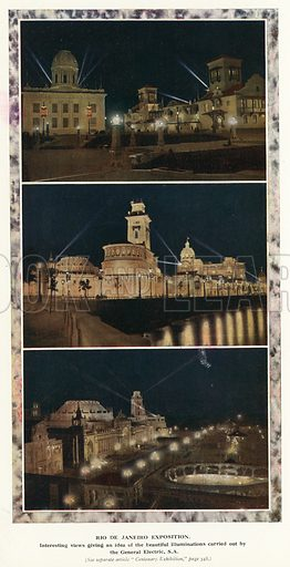 Independence Centenary International Exposition, Rio de Janeiro, Brazil, 1922-1923. Illustration from Commercial Encyclopedia, South America and Cuba (Globe Encyclopedia Company, London, 1924).