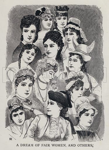 A Dream of Fair Women, and Others. Illustration from Edward the Seventh - a Play (London, 1876).