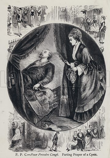 PPC Pour Prendre Conge. Parting Prayer of a Cynic. Illustration from Edward the Seventh – a Play (London, 1876).