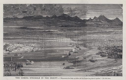 The Coming Struggle in the Orient. Illustration from Edward the Seventh - a Play (London, 1876).