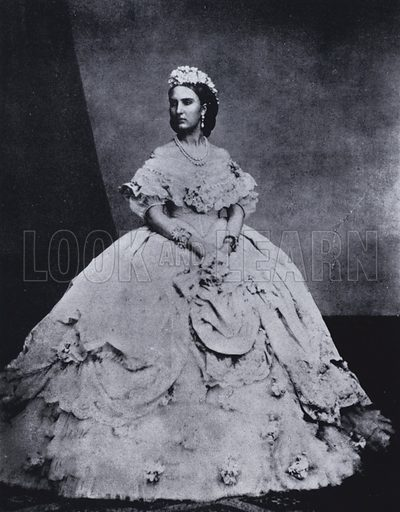 Empress Charlotte of Mexico (1840–1927), 1861. Illustration from Immortal Portraits, by Alexander Strasser (The Focal Press, London & New York, 1941).