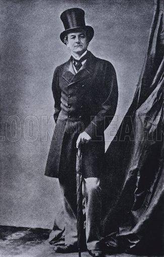 Granville Leveson-Gower, 2nd Earl Granville (1815–1891), British Liberal politician, c1860. Illustration from Immortal Portraits, by Alexander Strasser (The Focal Press, London & New York, 1941).