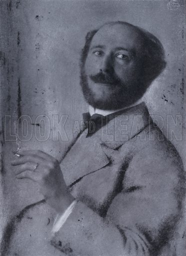 Alfred Kerr (1867-1948), German art critic, 1904. Illustration from Immortal Portraits, by Alexander Strasser (The Focal Press, London & New York, 1941).