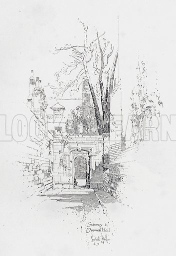 Gateway to Frewen Hall, Oxford. Illustration from Literary Landmarks of Oxford, by Laurence Hutton (Charles Scribner's Sons, New York, 1903).