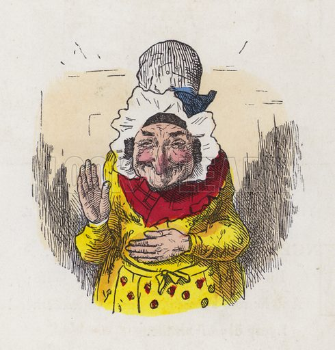 Old woman laughing. Illustration from Nursery Nonsense; or, Rhymes without Reason, by D'Arcy W Thompson (Griffith and Farran, London, 1865).