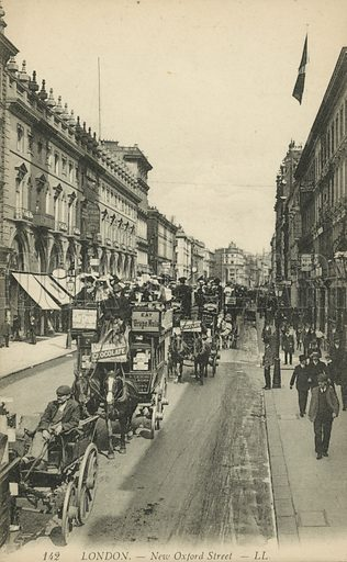 New Oxford Street, London. Postcard, early 20th century.