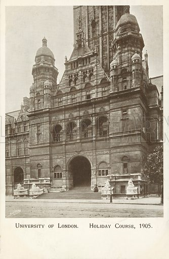 University of London, 1905. Postcard, early 20th century.