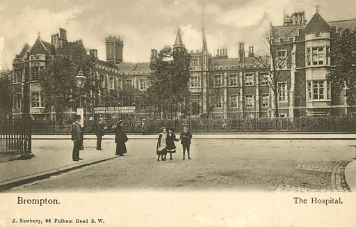 Brompton Hospital, London. Postcard, early 20th century.