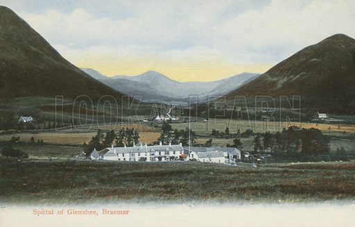 Spittal of Glenshee, Scotland. Postcard, early 20th century.