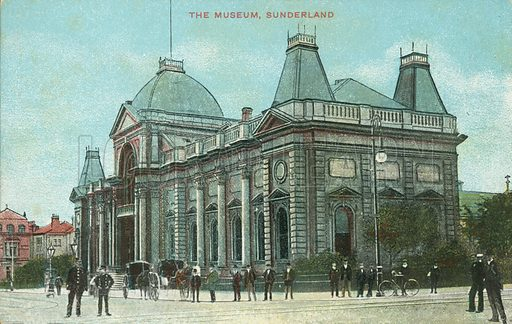 The Museum, Sunderland. Postcard, early 20th century.