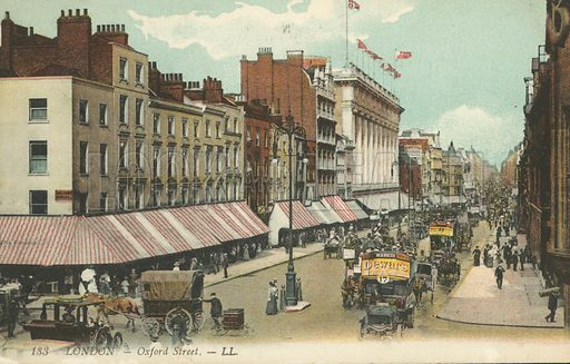 Oxford Street, London. Postcard, early 20th century.