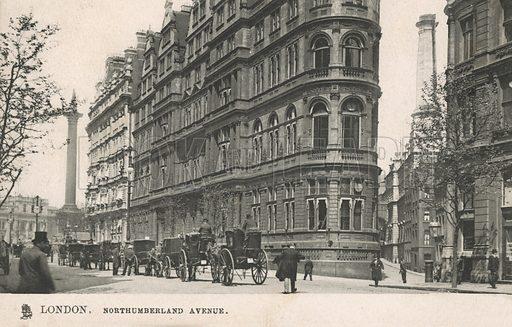 Northumberland Avenue, London. Postcard, early 20th century.