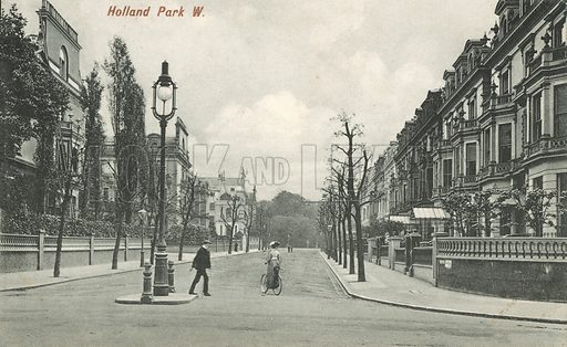 Holland Park, London. Postcard, early 20th century.