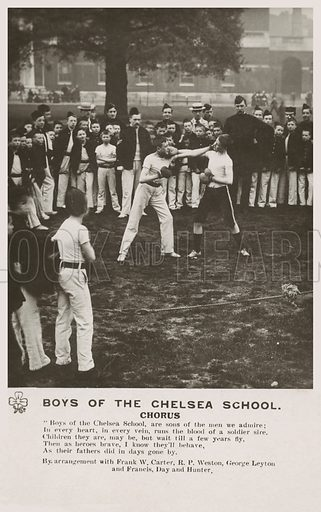 Boys of the Chelsea School. Postcard, early 20th century.