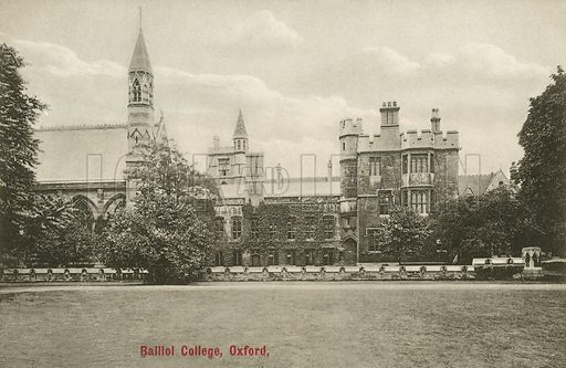 Balliol College, Oxford, Oxfordshire. Postcard, early 20th century.