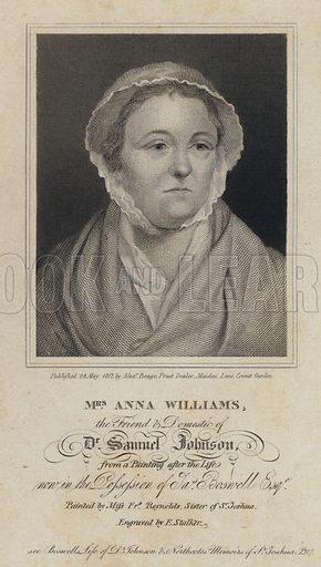 Anna Williams (1706–1783), Welsh poet and friend of English writer Samuel Johnson.